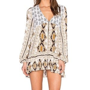 Free People Down by the Bay Printed Tunic Top NWOT